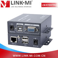 China Supplier Local and Remote KVM USB VGA 300m Extender to UTP