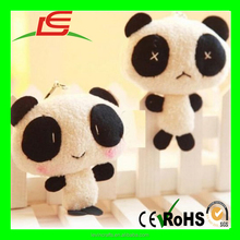 Mini Toys Type PP Cotton Soft Cartoon Plush Panda Keychain