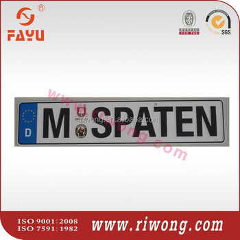 Vehicle Number Plates for Indian Market