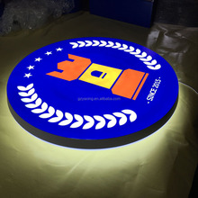 Factory price led light box used outdoor led round sign