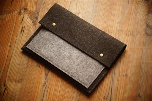 New fashion wool felt laptop carrying case on sale