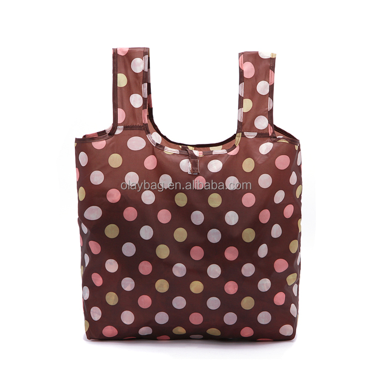 Promotional Customer Logo Printing Nylon Shopping Foldable Bag