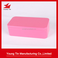 custom rectangle cosmetics packaging tin box