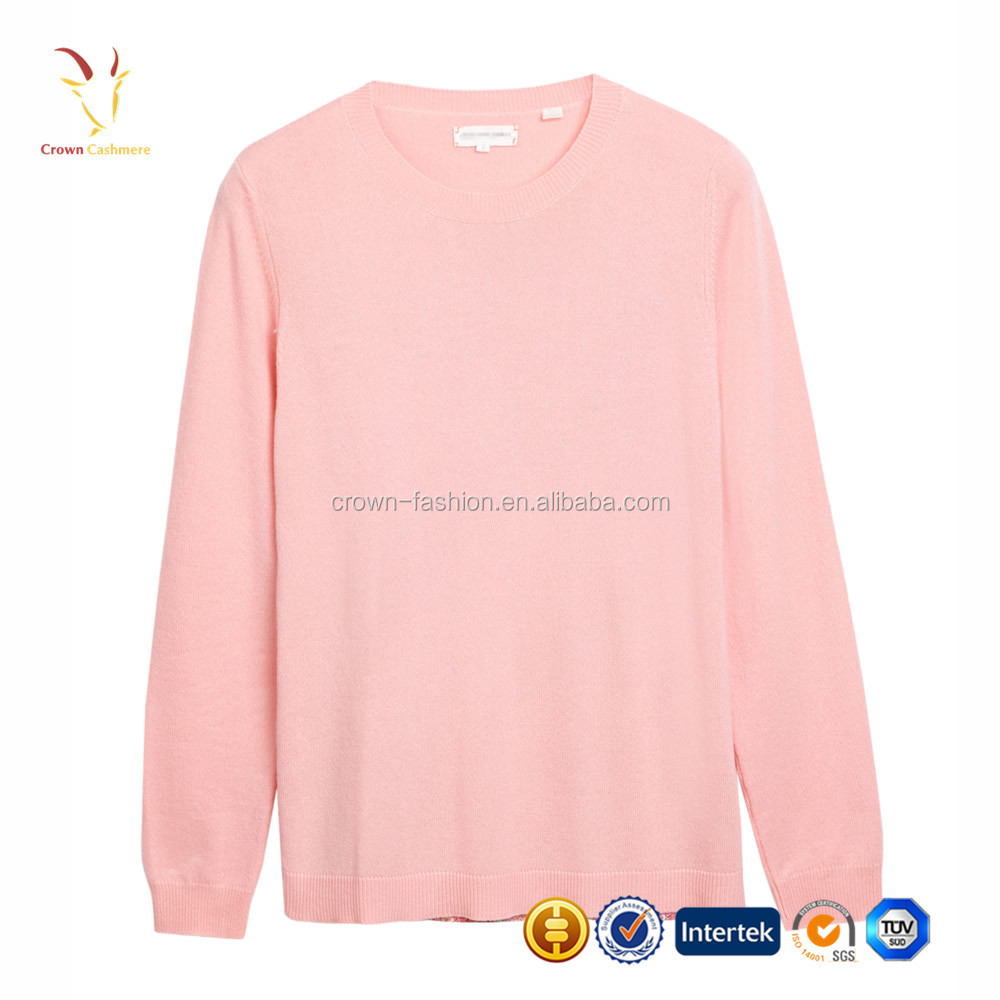Floral Print Young Ladies Cashmere Pattern Sweater Fashion Lady