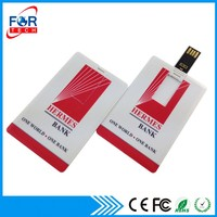 Wholesale Full Capacity Logo Print OEM ODM Cheap Mini Memory Credit Card USB Flash Drive