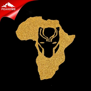 Iron on Wakanda Glitter Transfer Black Panther Mask Designs Wholesale
