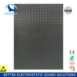 Black spherical Anti-fatigue ESD mat for lab and cleanroom