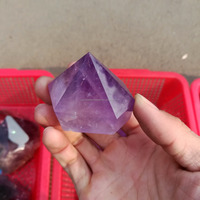 Natural amethyst rock crystal quartz prisms , purple crystal wands towers for healing