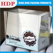 custom cupcake clear plastic box for PET packing box
