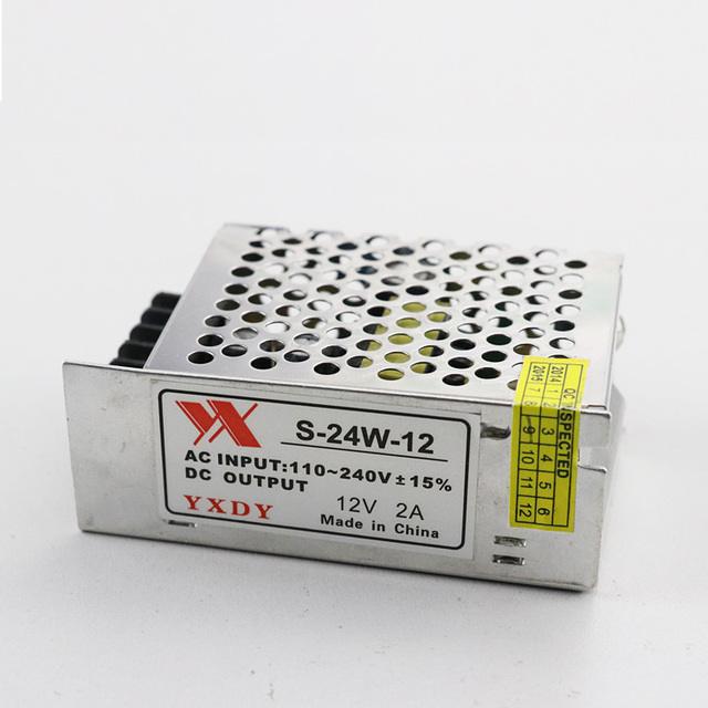 CE FCC ROHS 12V 2A AC/DC Switching Power Supply