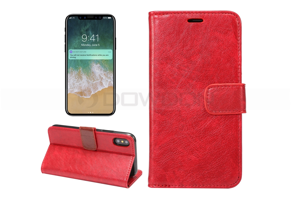 For iPhone 8 Case Flip Leather Wallet Phone Case Card Slot Flip Wallet for iPhone 7/7Plus/6/6S/Plus