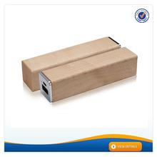 AWC628 Good Quality Promotioal Product Wood smart power bank 2600mah lipstick