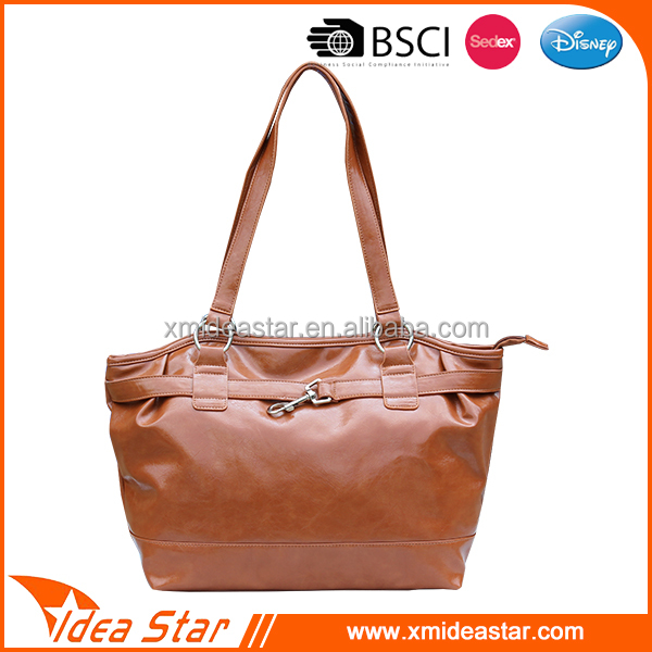2017 Professional PU leather lady handbag