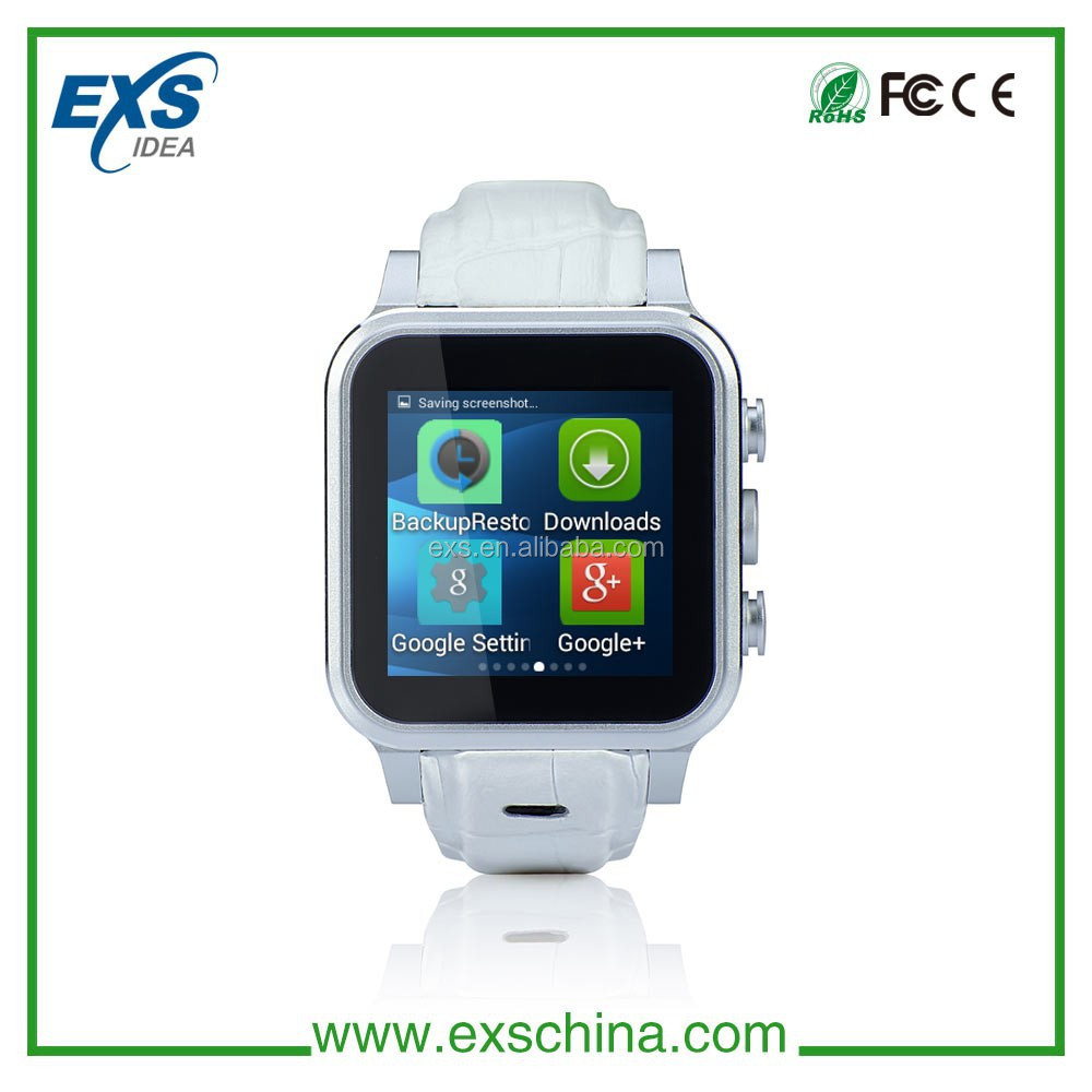 Touch Screen android 4.4 mobile phone watch WA8 EXS smart watch phone