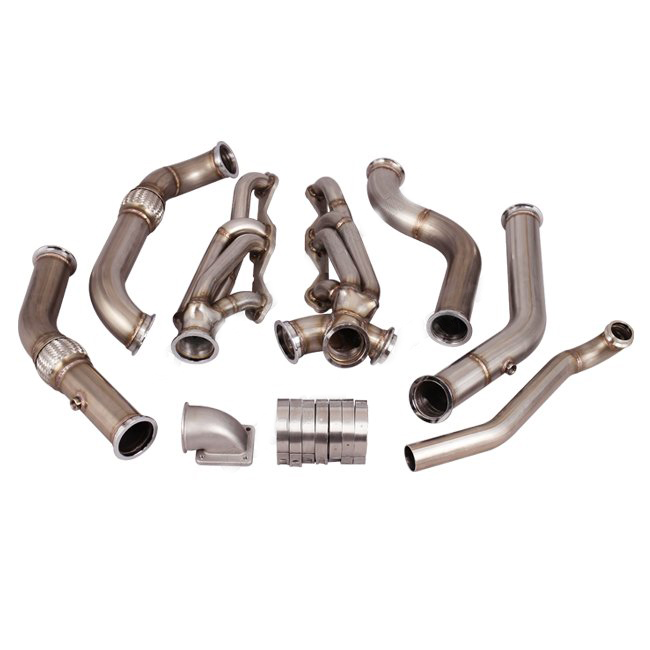 Exhaust system support T4 turbo Manifold Header Kit for Small Block SBC Engine