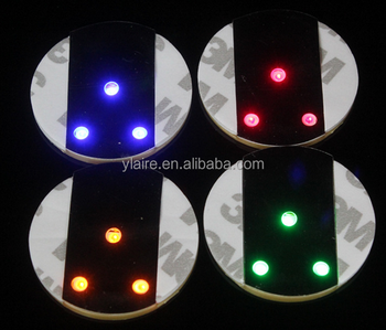 New Product Cheap Selling On Alibaba flash drink Sticker Bottle Led Coaster