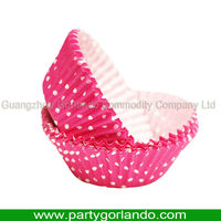 D.50xH.32mm 1C polka dot printing paper baking cake cup cases