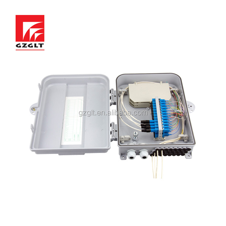 Alloy plastic material power 24 core optic fiber distribution box FTTH