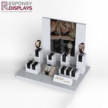 Luxury fashion trend counter acrylic wrist watch display holder