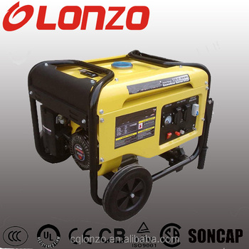 Original Brand LZ7500D 13HP With Handle And Wheel 100%Copper Wire Honda Engine 6.0KW Gas Generator With 12 Months Warranty
