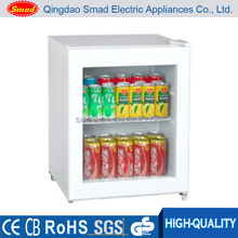 glass door mini drink fridge/showcase/cooler/refrigerator/cabinet/case