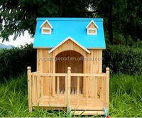 2016 build dog kennel wood house certified by FSC