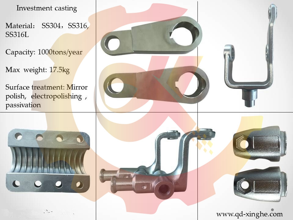 Customized stainless steel cast precision lost wax investment casting with heat treatment