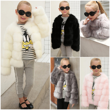new arrival kids winter coat wholesale price baby clothing soft children girls faux fur coat