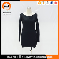 YEEL factory price classic flight thermal insulation properties cashmere jumper sexy galleries girls mini skirt mini dress