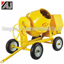 Gasoline/Electric Motor/Diesel Mini Sand Cement Mixing Machine with260L,300L,350L,400L,500L Charging Capacity,Guangzhou Supplier