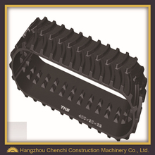 Engineering rubber track excavator, Construction excavator rubber crawler system