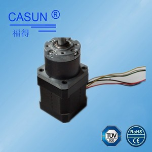 Hybrid reduction gearbox nema 17 low noise 42SHD0404-19G planetary gear stepper motor with high quality