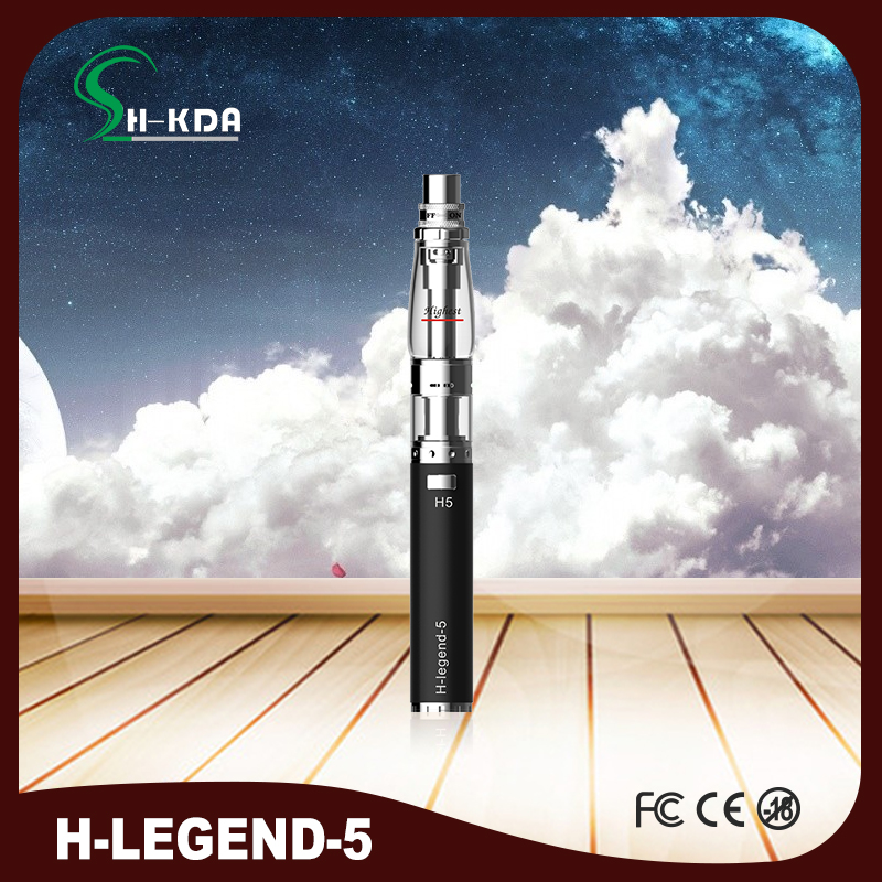 HKDA Original H legend 5 stainless steel electronic shisha e hookah vep pen clearomizer with water device LED