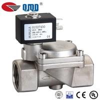High pressure stainless steel diaphragm 24v dc pneumatic solenoid valve