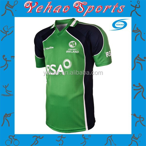 cricket kit design uniforms color green with sublimated logo