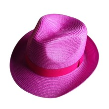 Cheap bright color PP material fedora hat for promotion