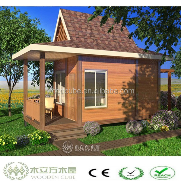 WPC beautiful house model, cheap wood house