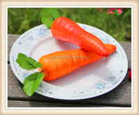 Decorative Fake Fruit Vegetable Artificial Carrot Tamato Realistic Decoration