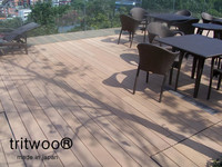 Trit wood WPC decking made in Japan/ 145mm*30mm Brown Bracket installation type Trit wood wood plastic composite price