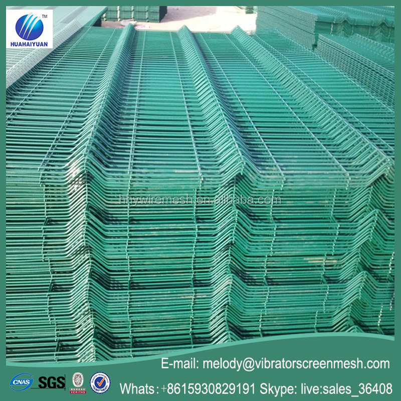 PVC coated cheap sheet metal fence panels heavy gauge galvanized welded wire mesh panel