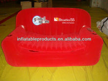 pvc inflatable cooler sofa with pad