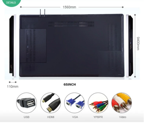 50 inch interactive touch whiteboard multimedia teaching machine touch display