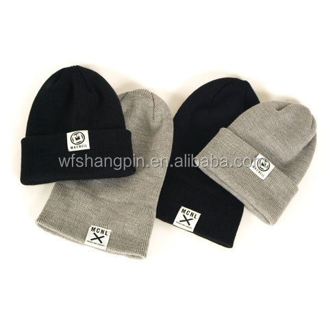 Good Quality Custom Woven Label Sport Hats Beanie Winter
