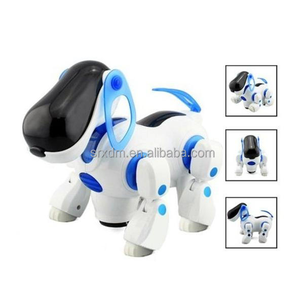 Professional Customized Music Light Electric Robot Walking Flash Dog For Children/Custom Made Electronic Puppy Toys Factory