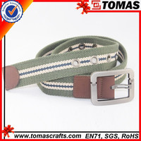 Customized fashionable colorful fabric cotton canvas belt/webbing belt for men