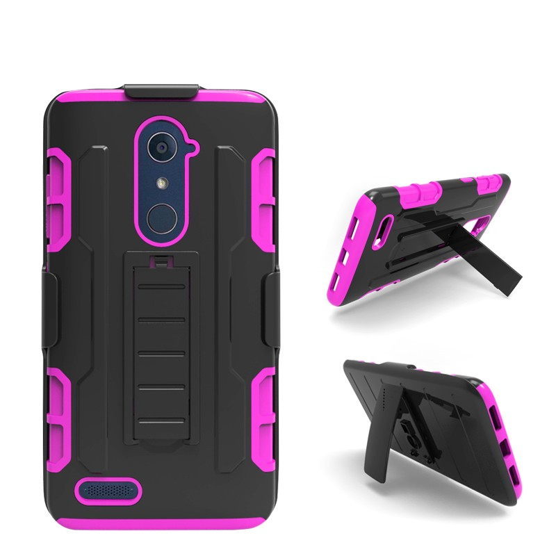 Metro Pcs Upcoming Model Hot Phone Accessories Robot Holster Case For Zte Z Max