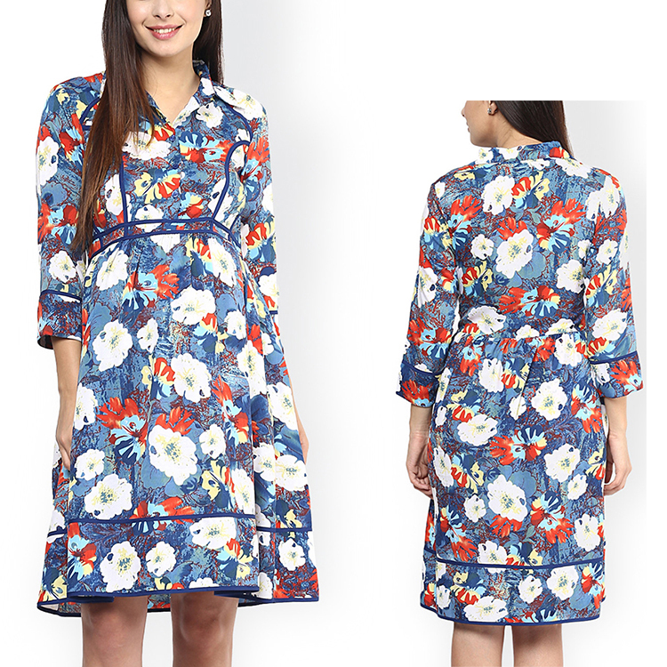 wholesales women clothes buy maternity chiffon floral print dress stores