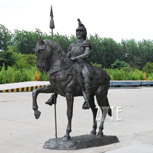 Hot Casting Bronze Knight on Horse Statue
