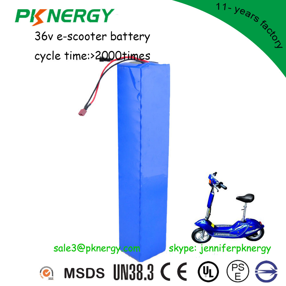 High power rechargeable lithium ion battery pack 36v 12ah 20ah 30ah 50ah li-ion electric bike/scooter battery