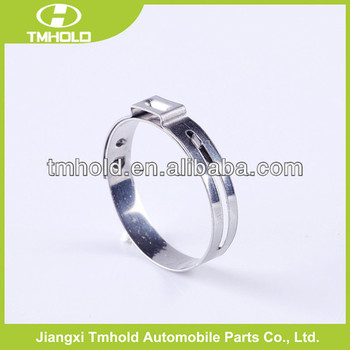 Galvanized steel 0.5mm thickness Adjustable single ear hose clamp ring /one ear pipe clamp ring